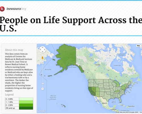 Explore life support statistics nationwide